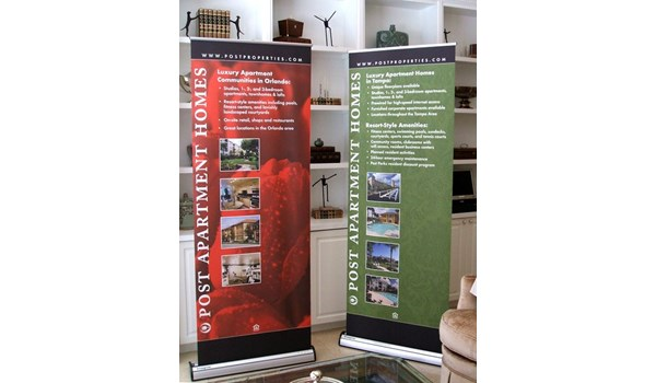 BS022 - Custom Banner Stand for Real Estate