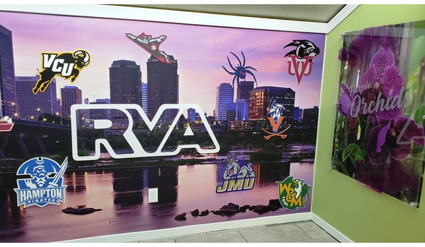 Wall Graphics | Our showroom walls