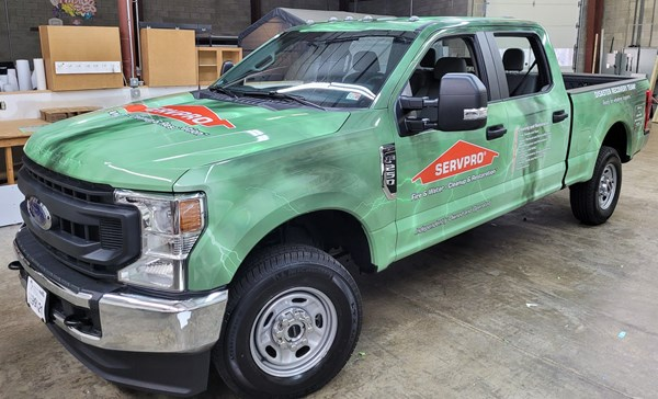 Full Vehicle Wrap for Servpro pickup