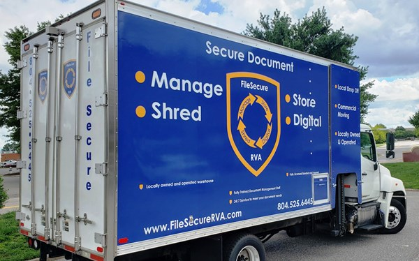 Box truck wrap for File Secure
